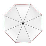 Clear transparent umbrella isolated on white background. 3D illustration . Stock Photos