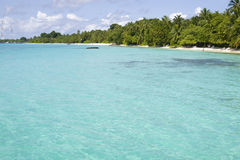 Clear transparent water in maldives Royalty Free Stock Photo