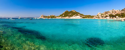 Clear turquoise water of Cala Corsara in Sardinia Royalty Free Stock Photography