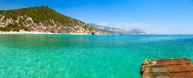 Clear turquoise water of  Cala Luna in Sardinia Royalty Free Stock Images