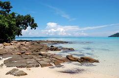 Clear turquoise water of Indian Ocean Stock Image