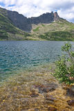 Clear turquoise water of the mountain lake Royalty Free Stock Photography