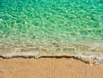 Clear turquoise water of sardinian sea Stock Photos
