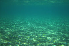 Clear under water sea in greece. As nice background Stock Image