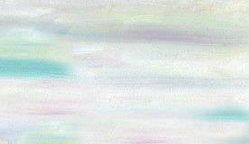 Clear uniform Oil Painting background. Cloudy spring skyTexture of large brush strokes vector illustration