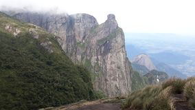Clear View of Pico do Garrafão at Parque Nacional Serra dos Órgãos stock photography