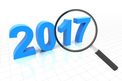 Clear view in year 2017. 3d render Stock Image