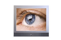 Clear vision. Made from my photos isolated on white background Royalty Free Stock Photography