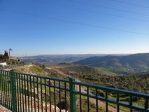 Clear vision from a high mountain in Shomron royalty free stock photo