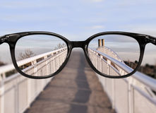 Clear vision over bridge perspective Stock Photo