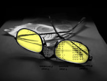 Clear Vision Yellow. Yellow glasses Stock Images