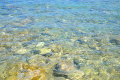 Clear water in the Aegean Sea. Stock Photo