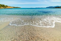 Clear water in Andreani cove in Caprera. Island, Sardinia Royalty Free Stock Photo