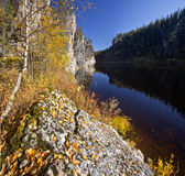Clear water autum Royalty Free Stock Photography