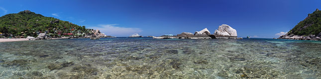 Clear Water Bay (panorama) Stock Image