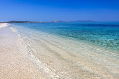 Clear Water Beach of Le Saline, Sardegna. Scenic, clear water beach of Le Saline, Stintino, Sardinia stock image
