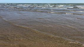 Clear water on the beach stock video footage