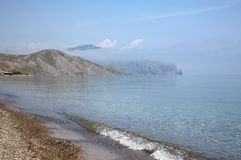 Clear water of the Black sea Stock Photo