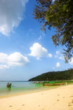 Clear water and blue sky. Beach in Koh Phangan Stock Photography