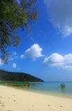 Clear water and blue sky. Beach in Koh Phangan Royalty Free Stock Images