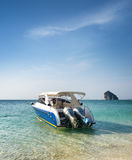 Clear water and blue sky. Beach in Krabi province, Thailand Stock Photo