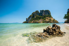 Clear water and blue sky. Koh Phak Bia, Krabi province, Thailand.  Stock Images