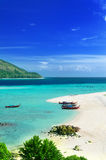 Clear water and blue sky. Lipe island, Thailand Royalty Free Stock Image