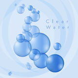 Clear Water Bubbles Stock Images