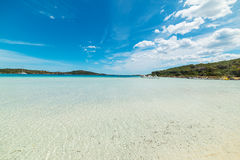 Clear water in Cala Brandinchi Stock Photography