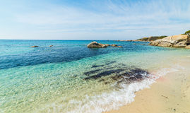Clear water in Cala Caterina Stock Photos