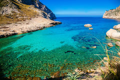 Clear water at the cape Formentor Royalty Free Stock Images