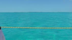 Clear Water of Caribbean Sea near Cayo Largo. Cuba stock footage