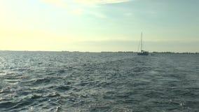 Clear Water of Caribbean Sea near Cayo Largo. Cuba stock video footage