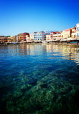 Clear water of Chania habour, Crete, Greece Royalty Free Stock Image