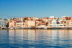 Clear water of Chania habour, Crete, Greece Stock Photo