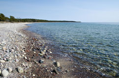 Clear water at coastline Royalty Free Stock Images