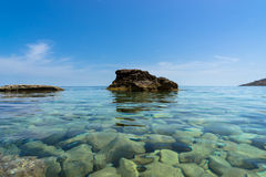Clear water of the coastline of Gozo, Malta Stock Photo