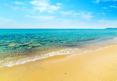 Clear water in Costa Rei Royalty Free Stock Photos