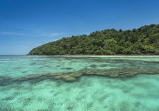 Clear water. Crystal clear water on the island. Ideal for holiday Royalty Free Stock Photos