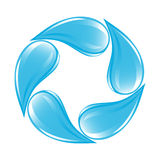 Clear water drops icon Stock Image