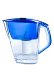 Clear water filter pitcher Royalty Free Stock Images