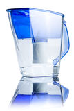 Clear water filter pitcher Stock Image