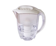 Clear water filter pitcher with clipping path Royalty Free Stock Images