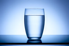 Clear water. Clear glass full of pure water Royalty Free Stock Photo