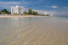 Clear water at Huahin Thailand Royalty Free Stock Image