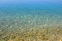Clear water in the Ionian Sea. Royalty Free Stock Image