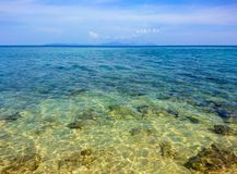 Clear water at Koh Bulone island beach Stock Images