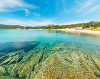 Clear water in La Celvia beach Royalty Free Stock Photo