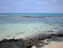 Clear Water and Lava Rocks stock photography