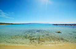 Clear water in Le Bombarde beach Stock Photos